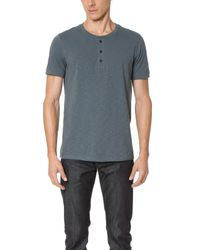 Vince | Multicolor Refined Henley Tee for Men | Lyst