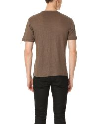 The Kooples - Natural Linen Tee With Skull Detail for Men - Lyst