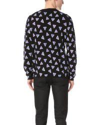 KENZO - Black Bermuda Triangle Cotton Knit Sweater for Men - Lyst