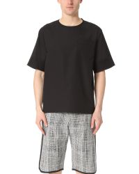 3.1 Phillip Lim   Black Box Cut Tech Tee With Trapunto Stitching for Men   Lyst