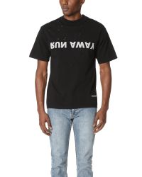 Satisfy - Black Run Away Moth Eaten Tee for Men - Lyst