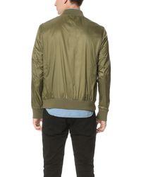 Calvin Klein Jeans - Green Nylon Aviator Jacket for Men - Lyst