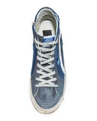 Golden Goose Deluxe Brand - Blue Slide Sneakers for Men - Lyst