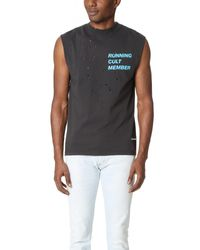 Satisfy | Black Cult Moth Eaten Sleeveless Tee for Men | Lyst