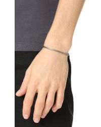 Le Gramme - Metallic Le 9 Grammes Black Silver Horizontal Guilloche Cuff for Men - Lyst