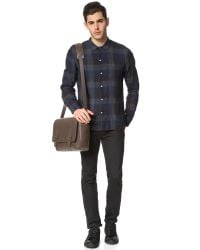 Michael Kors - Red Bryant Pebbled Leather Large Messenger Bag for Men - Lyst