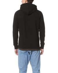 Han Kjobenhavn - Black Embroidered Logo Hoodie for Men - Lyst
