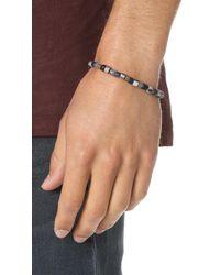 Caputo & Co. - Multicolor Glass & Brass Bead Bracelet for Men - Lyst