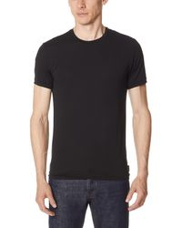 Calvin Klein - Black Light Short Sleeve Crew Neck Tee for Men - Lyst