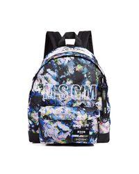 MSGM - Multicolor X Eastpak Backpack Printed Flower for Men - Lyst