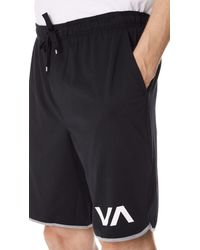 RVCA - Black Va Sport Shorts Ii for Men - Lyst