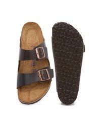 Birkenstock - Black Soft Arizona Amalfi Leather Sandals for Men - Lyst