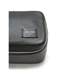 Jack Spade - Black Pebbled Leather Travel Kit for Men - Lyst