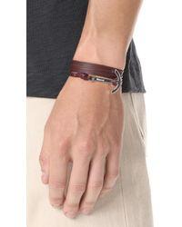 Miansai - Multicolor Modern Anchor Leather Wrap Bracelet for Men - Lyst
