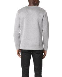 Helmut Lang - Gray Tape Detail Pullover for Men - Lyst