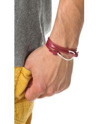 Miansai | Metallic Hooked Leather Wrap Bracelet for Men | Lyst