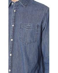 Rag & Bone - Blue Fit 3 Denim Shirt for Men - Lyst