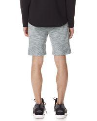 Dyne Gray Cassini Knit Shorts for men