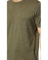 Rag & Bone - Green Standard Issue Pocket Tee for Men - Lyst