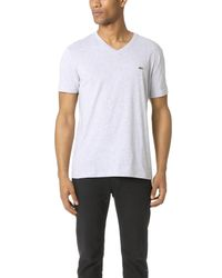 Lacoste - Gray Pima Jersey T-shirt for Men - Lyst