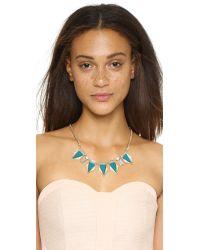Adia Kibur | Blue Jessica Necklace - Turquoise | Lyst