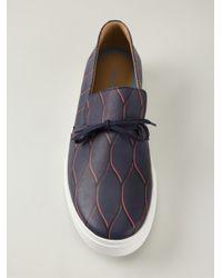 KENZO - Blue Printed Sneakers for Men - Lyst
