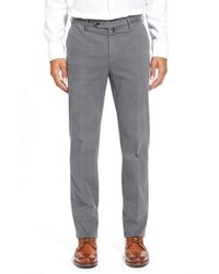 Incotex | Gray 'benn' Flat Front Trousers for Men | Lyst
