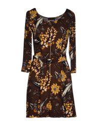Prada | Brown Short Dress | Lyst