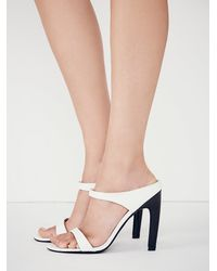 Free People | White Finders Keepers Womens All We Know Mule | Lyst