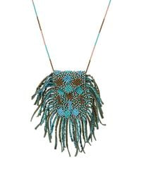 Etro   Multicolor Bead Embellished Necklace   Lyst