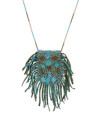 Etro - Multicolor Bead Embellished Necklace - Lyst