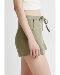 Forever 21 | Green Drawstring Chino Shorts | Lyst