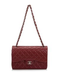 Madison Avenue Couture - Chanel Red Quilted Lambskin Medium Classic Double Flap Bag - Lyst