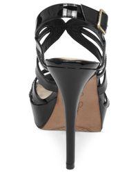 Jessica Simpson | Black Binnie Platform Evening Sandals | Lyst