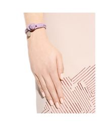 Bottega Veneta | Purple Knot Woven Leather Bracelet | Lyst