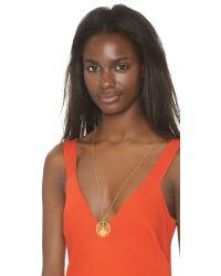 Gorjana | Metallic Shera Pendant Necklace - Gold | Lyst