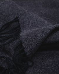Zara | Blue Long Fringed Scarf for Men | Lyst