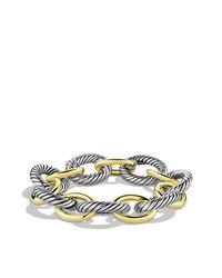 David Yurman - Metallic Oval Extra Large Link Bracelet - Lyst