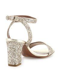 Tabitha Simmons - Metallic Leticia Glitter-Embellished Sandals - Lyst