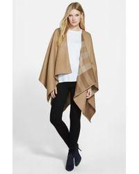 Burberry - Brown Reversible Merino Wool Ruana - Lyst