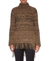 Sportmax - Brown Sesia Roll-neck Sweater - Lyst