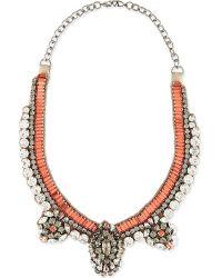 Valentino | Orange Swarvoski Crystal Neclace | Lyst