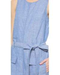 Koral - Blue Utilitarian Jumpsuit - Chambray - Lyst