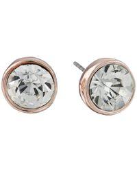 Guess | Pink Filigree Swirl Heart/stud Earrings Set | Lyst