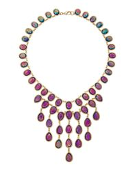 Fragments - Opalescent Cascade Necklace Blue - Lyst