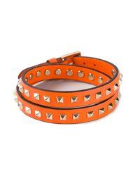 Valentino | Orange Rockstud Bracelet | Lyst