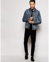 ASOS | Blue Denim Jacket In Skinny Fit for Men | Lyst