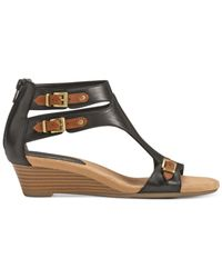 Aerosoles - Black Yet Another Wedge Sandals - Lyst
