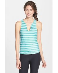 Nike - Blue 'pure' Stripe Tennis Tank - Lyst