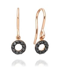 Astley Clarke | Black Diamond Halo Earrings | Lyst